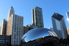 Chicago cityscape and Bean Stock Photography