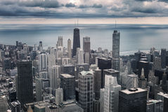 Chicago cityscape view royalty free stock photos