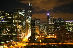 Chicago cityscape Stock Photos