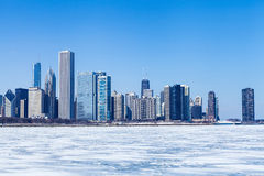 Chicago Cityscape in winter Royalty Free Stock Image