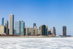 Chicago Cityscape in winter Royalty Free Stock Photo