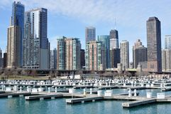 Chicago Cityview Apartment Buildings Stock Photography