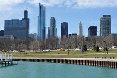 chicago cityviewlakefront Arkivfoton