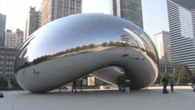 Chicago Cloud Gate stock footage