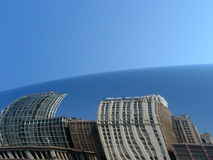 chicago cloudgate Arkivfoto