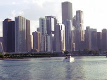 Chicago coastline stock image