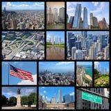 Chicago-Collage Lizenzfreie Stockfotos