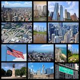 Chicago collage Royalty Free Stock Photos