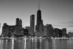 Chicago comme coucher du soleil Image libre de droits
