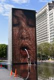 Chicago South Crown Fountain Stock Image