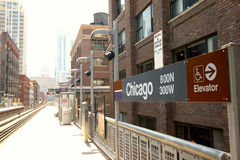 Chicago CTA Royaltyfria Bilder