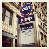 Chicago CTA bus sign Stock Images