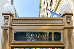 Chicago CTA Subway Entrance Royalty Free Stock Photography