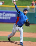 Chicago Cubs Ryan Dempster makes his first start of the 2011 Cac. Chicago Cubs Ryan Dempster took to the pitching mound for the first time in Spring Training Royalty Free Stock Photos