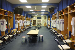 Chicago cubs a sala dos jogadores Fotografia de Stock Royalty Free