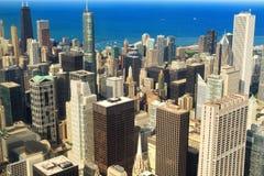 Chicago da baixa fotografia de stock