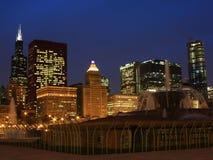 Chicago da baixa vista da base de Buckingha Fotos de Stock Royalty Free