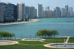 Chicago dal lago Fotografia Stock Libera da Diritti