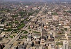 Chicago-Datenbahn und Austausch Stockfotografie