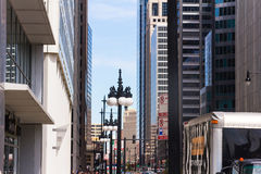 Chicago. Day at one of the main streets Stock Photo