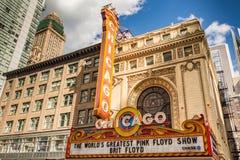 CHICAGO - 22 DE MARÇO: O teatro famoso de Chicago em State Street o Imagens de Stock