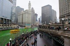 Teñido del río Chicago Foto de archivo libre de regalías