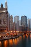 Chicago in de ochtend. Royalty-vrije Stock Afbeeldingen