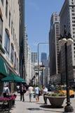 Chicago de stad in Stock Foto's
