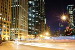 Chicago de stad in Royalty-vrije Stock Afbeeldingen