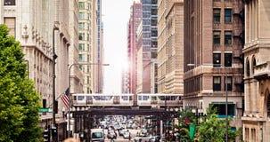 Chicago de stad in Stock Foto