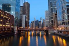 Chicago de stad in. Royalty-vrije Stock Foto's