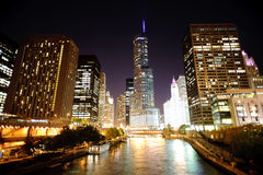 Chicago de stad in Stock Afbeelding