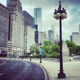Chicago de stad in Royalty-vrije Stock Afbeelding