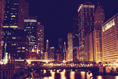 Chicago de stad in Stock Afbeeldingen