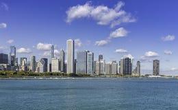 Chicago de stad in in dalingslandschap Stock Foto