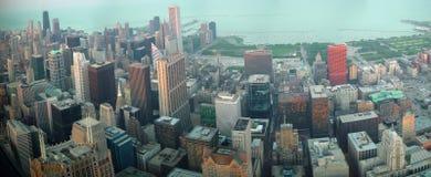 Chicago de stad in van schroeit Toren Stock Foto