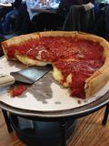 Chicago deep dish stock photo