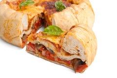 Chicago Deep Dish Stuffed Pizza Stock Photos