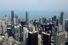 Chicago del centro da sopra Fotografia Stock Libera da Diritti