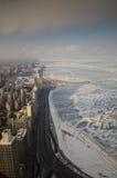 Chicago desde arriba fotos de archivo