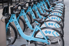 Chicago Divvy Bike Share Station Stock Photos