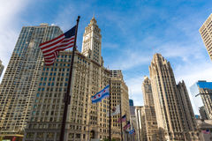 Chicago do centro em Illinois, EUA Foto de Stock