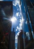 Chicago do centro - um lugar agradável para visitar & explorar EUA fotografia de stock royalty free
