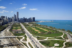 chicago dotaci park Obrazy Royalty Free