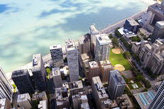 Chicago Downtown. Aerial View of Chicago Downtown Stock Photos