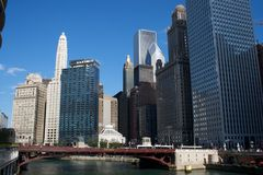 Chicago downtown. A landscape scene for Chicago downtown Royalty Free Stock Images