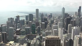 Chicago downtown from above stock video footage