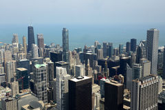 Chicago downtown from above Royalty Free Stock Photography
