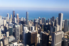 Chicago Downtown (Aerial View) Royalty Free Stock Images