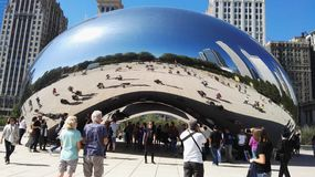 Chicago. Downtown bean park landmark royalty free stock images